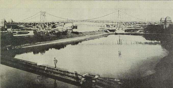 Kaiser Wilhelm Brücke in Wilhelmshaven um 1910