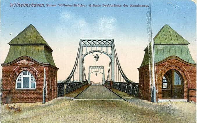 Wilhelmshaven Brücke um 1914